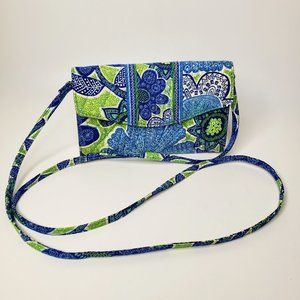 Vera Bradley Flowered Trifold Crossbody Wallet